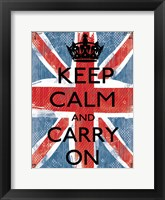 Framed Keep Calm And Carry On 1
