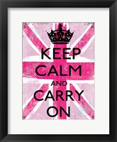 Framed Keep Calm And Carry On 2