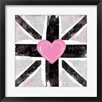 Framed Union Jack Heart I