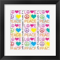 Framed Peace Love 1