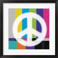 White Peace Framed Print