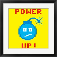 Power Up 1 Framed Print