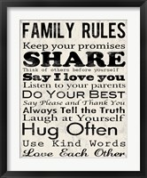 Framed Family Rules 1
