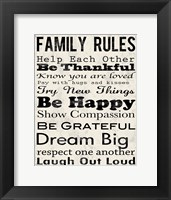 Framed Family Rules 3