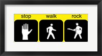 Framed Stop Walk Rock