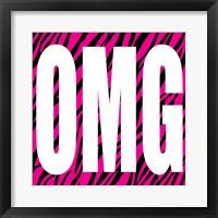OMG Zebra Framed Print