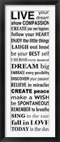 Live Your Dream 2 Framed Print
