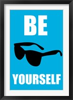 Be Yourself - Blue Framed Print