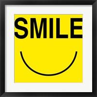 Smile - Yellow Framed Print