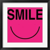 Smile - Pink Framed Print