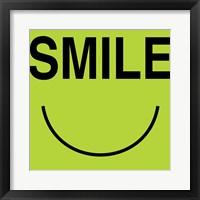 Smile - Green Framed Print