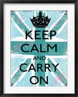 Keep Calm And Carry On 4 Framed Print