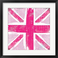 Framed Union Jack Pink