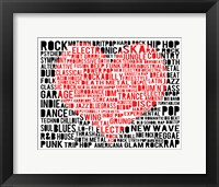 Music - New Wave 3 Framed Print
