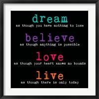Framed Dream Believe Love Live 3