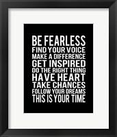 Framed Be Fearless 2