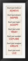 Achieve Inspire Accept 3 Framed Print