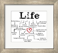 Framed Life Chart 1