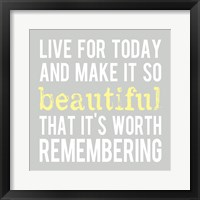 Make It So Beautiful 3 Framed Print