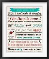 This Is Your Life 5 Framed Print