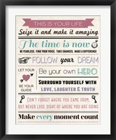 This Is Your Life 6 Framed Print