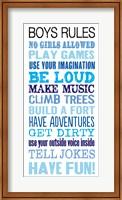Framed Boys Rules