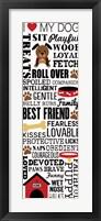 I Love My Dog 1 Framed Print