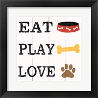 Framed Eat Play Love - Dog 2