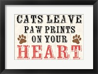 Cats Leave Paw Prints 2 Framed Print