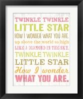 Framed Twinkle Twinkle 1