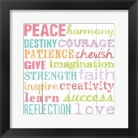 Framed Peace Harmony Destiny