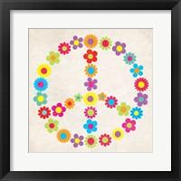 Framed Peace Floral