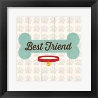 Best Friend - Bone Framed Print