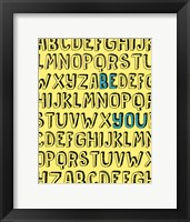 Framed Be You Alphabet