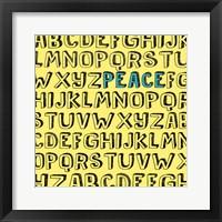 Framed Peace Alphabet