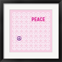 Peace Pink Framed Print