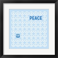 Peace Blue Framed Print