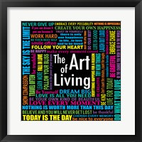 Framed Art of Living