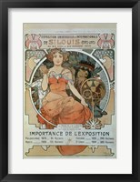 Framed Universal and International Exhibition in St Louis, 1904