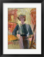 Framed Study of a Woman with Houses, c. 1910-1916