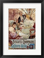 Framed Champagne Biscuits, 1897