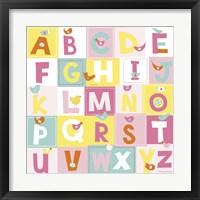 Framed Birdie Alphabet