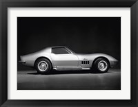 Framed Corvette Stingray