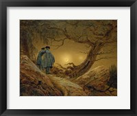 Framed Two Men Observing the Moon, 1819-1820