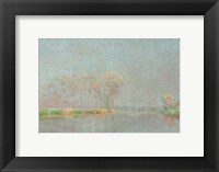 Framed Fog on the River Lys Canvas
