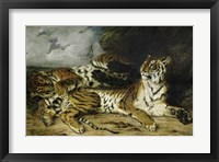 Framed Young Tiger Playing with its Mother, 1830