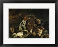 Framed Dante and Virgil in Hell (Dante's Boat) 1822