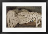 Framed Unmade Bed