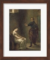 Framed Hamlet and Ophelia