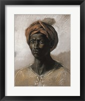 Framed Bust of a Black Man Wearing a Turban, 1826